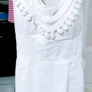 Perfect white dress for summer time!